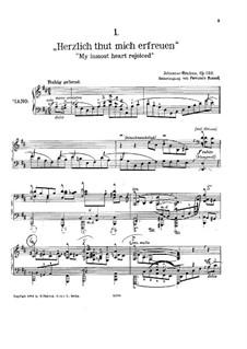 Одиннадцать хоральных прелюдий, Op.122: No.4-5, 8-11, для фортепиано by Иоганнес Брамс