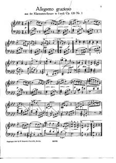 Сонаты для кларнета (или альта) и фортепиано, Op.120: Соната No.1. Allegretto grazioso. Версия для фортепиано by Иоганнес Брамс