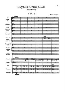 Симфония No.1 до минор, WAB 101: Партитура by Антон Брукнер