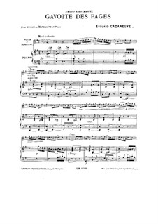 Gavotte des pages for Violin (or Mandolin) and Piano: Gavotte des pages for Violin (or Mandolin) and Piano by Edouard Cazaneuve