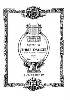 Три танца для фортепиано: Три танца для фортепиано by Игнасио Сервантес