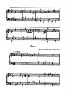 Жига ре мажор: Жига ре мажор by Жак Шампион де Шамбоньер