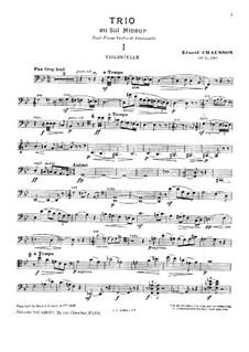 Фортепианное трио соль минор, Op.3: Партия виолончели by Эрнест Шоссон