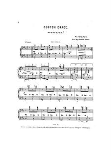 Три экосеза, Op. posth.72 No.3: Экосез ре мажор, для фортепиано в четыре руки by Фредерик Шопен