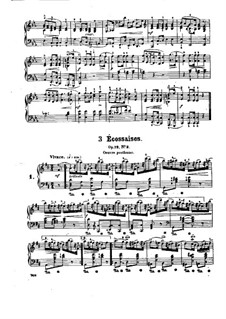 Три экосеза, Op. posth.72 No.3: Сборник by Фредерик Шопен