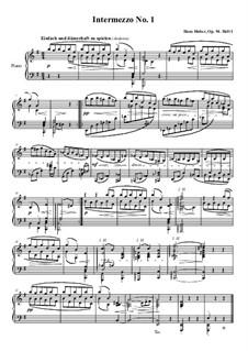 Интермеццо для фортепиано, Op.94: Интермеццо No.1 ми минор by Ханс Хубер