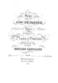 Арии на темы из оперы 'Моисей в Египте' Россини, Op.28: No.2 – Партии by Маттео Каркасси