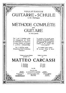 Школа игры на гитаре, Op.59: Часть I by Маттео Каркасси