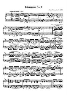 Интермеццо для фортепиано, Op.94: Интермеццо No.2 соль минор by Ханс Хубер