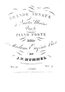 Соната для фортепиано в четыре руки ля-бемоль мажор, Op.92: Первая и вторая партии by Иоганн Непомук Гуммель