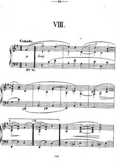 Двенадцать пьес для фортепиано, Op.26: Пьеса No.8 by Теодор Кирхнер
