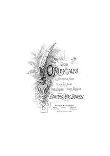Les Orientales, Op.37: No.2 Dans le hamac by Эдвард Макдоуэлл
