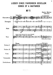 Песни странствующего подмастерья: Для голоса и фортепиано by Густав Малер