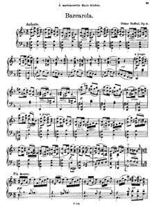 Четыре пьесы для фортепиано, Op.8: Четыре пьесы для фортепиано by Оскар Недбал