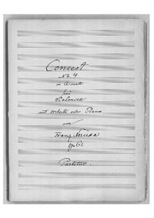 Концерт для виолончели с оркестром No.4 ля минор, Op.61: Партитура by Франц Неруда