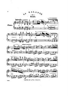 La Galante. Rondo, Op.120: Для фортепиано by Иоганн Непомук Гуммель