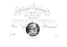 Большая серенада No.1, Op.63: Партии by Иоганн Непомук Гуммель