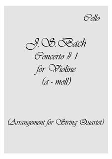 Концерт для скрипки, струнных и бассо континуо No.1 ля минор, BWV 1041: Партии by Иоганн Себастьян Бах