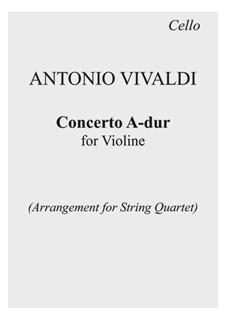 La Cetra (The Lyre). Twelve Violin Concertos, Op.9: No.2 Concerto in A Major – parts, RV 345 by Антонио Вивальди