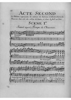 Daphnis et Alcimadure: Акт II by Жан-Жозеф Кассанеа де Мондевиль