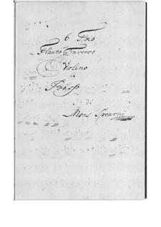 Шесть трио для флейты, скрипки и бассо континуо: Шесть трио для флейты, скрипки и бассо континуо by Wenceslaus Joseph Spourni