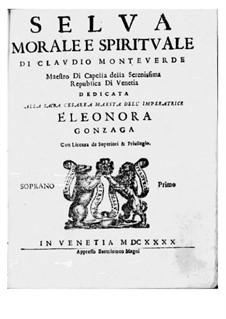 Selva morale e spirituale, SV 252–288: Soprano I part by Клаудио Монтеверди