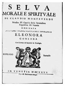 Selva morale e spirituale, SV 252–288: Soprano II part by Клаудио Монтеверди
