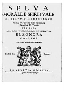 Selva morale e spirituale, SV 252–288: Tenor II part (Voice) by Клаудио Монтеверди