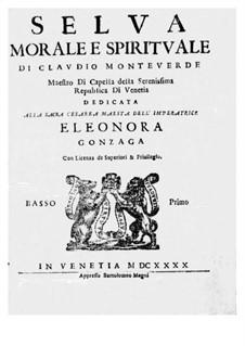 Selva morale e spirituale, SV 252–288: Bass I part (Voice) by Клаудио Монтеверди