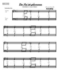 Der Mai ist gekommen: For mixed choir, Op.86 by folklore