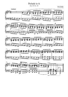 Cinquante études mélodiques précédées chacune d'un prélude en deux suites, Op.141: No.14 Прелюдия by Анри Жером Бертини