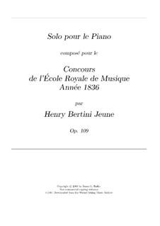 Solo de concours, Op.109: Solo de concours by Анри Жером Бертини