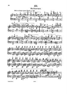 Соната для фортепиано No.10 си-бемоль мажор, Op.268: Части III-IV by Карл Черни