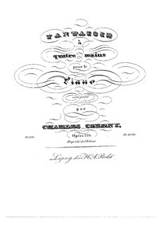 Фантазия для фортепиано в четыре руки, Op.226: Фантазия для фортепиано в четыре руки by Карл Черни