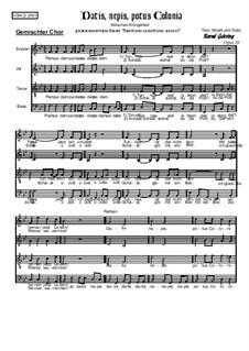 Datis, Nepis, Potus, Colonia, Op.20: Datis, Nepis, Potus, Colonia by Bernd Gehring
