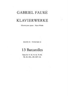Тринадцать баркарол: Для фортепиано by Габриэль Форе