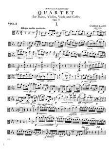 Фортепианный квартет No.1 до минор, Op.15: Партия альта by Габриэль Форе