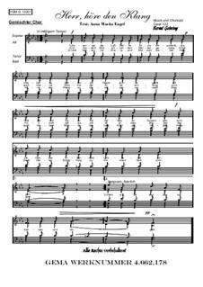 Herr, höre den Klang, Op.122: Herr, höre den Klang by Bernd Gehring