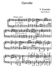 Одинадцать этюдов в форме старинных танцев, Op.19: No.11 Гавот by Viktor Stepanovych Kosenko