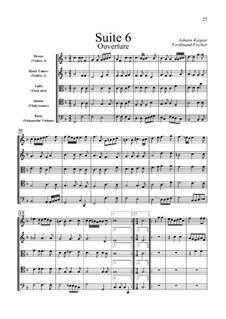 Le Journal du Printemps: Suite No.6 in F Major by Иоганн Каспар Фердинанд Фишер
