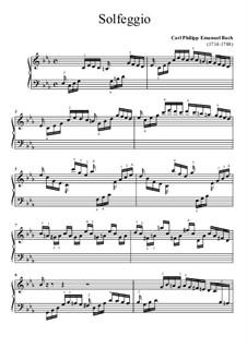 Сольфеджио, H 220 Wq 117:2: Для фортепиано (ноты высокого качества) by Карл Филипп Эммануил Бах