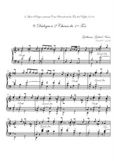 Premier livre d'orgue: No.9 Dialogue à deux chœurs by Guillaume-Gabriel Nivers