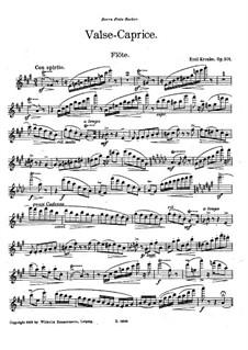 Вальс-каприс для флейты и фортепиано, Op.201: Сольная партия by Эмиль Кронке