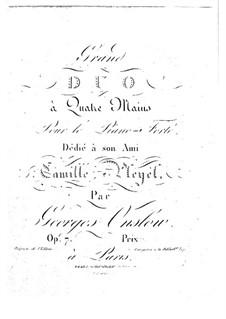 Большая соната для фортепиано в четыре руки No.1, Op.7: Партии by Жорж Онсло