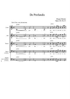 De Profundis, Op.20 No.13: De Profundis by Бьяджо Марини