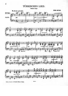Турецкая песня для фортепиано: Турецкая песня для фортепиано by Фердинанд Бейер