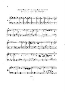 Intermedios sobre el tema Rex Virginum: Intermedios sobre el tema Rex Virginum by Антонио де Кабесон