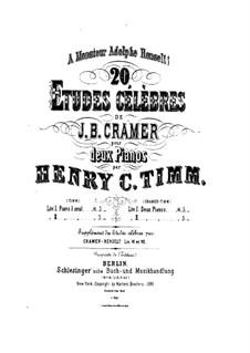 Двадцать этюдов: No.11-20, для двух фортепиано в четыре руки – Партия второго фортепиано by Иоганн Батист Крамер