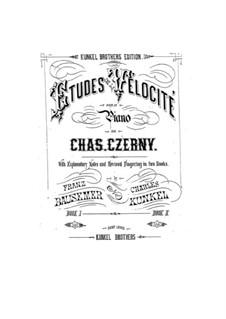 Etudes de la vélocité: Книга I by Карл Черни