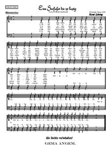 Eine Seefahrt die ist lustig: For male choir, Op.339 by folklore